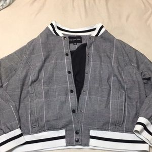 Sz 2x bomber style plaid by Who What Wear GUC